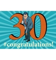 Congratulations 30 anniversary event celebration vector image