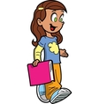 Girl With Book vector image vector image