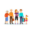 family with children in shopping center vector image