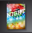 night party flyer design vector image