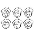 Man with different emotions vector image