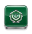 Metal icon of Arab League vector image vector image