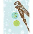 Plumbing Company Retro Holiday Greetings vector image