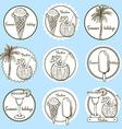 Sketch vacation logos vector image
