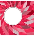 Abstract white round shape digital red background vector image