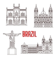 Architecture travel landmarks of Brazil vector image