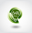 earth hour 2018 hand-drawn grass green vector image