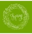 Hand drawn spring wreath vector image