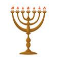 jewish chandelier menorah vector image