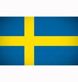 National flag of Sweden vector image
