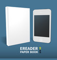 paperbook electronic book template2 vector image