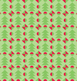 Retro Christmas pattern Winter wallpaper vector image