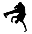 streetdancer silhouette vector image