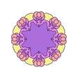 Violet circle mandala vector image