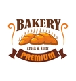 Bakery shop pastry cafe label emblem vector image vector image