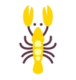 Lobster icon isolated on white flat style vector image