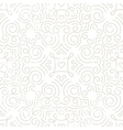Silver vintage wallpaper with swirls and hearts vector