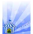 A blue circus tent vector image vector image