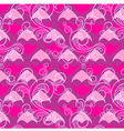 beautiful pink seamless pattern vector image vector image