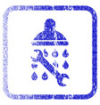 shower plumbing framed textured icon vector image