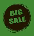 doodle sale tag big sale banner black and green vector image