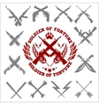 Crossed Weapons Collection in white vector image