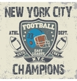 New York football vintage t-shirt graphics vector image