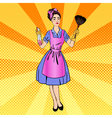 Woman Cleaning the House Girl Doing House Work vector image vector image