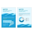 Template infographic water vector image