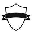 badge element icon simple black style vector image