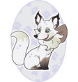 cute arctic fox posing in a winter scene with paw vector image