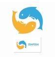 fish design logo template Seafood design vector image