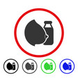 mother milk rounded icon vector image