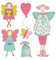 Scrapbook Design Elements - Baby Doll Set vector image