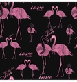 seamless pattern flamingo vector image