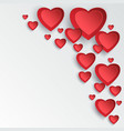 valentine day card with 3d heart cutting paper vector image