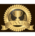Winner Gold Label vector image