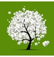 Money tree concept with dollar signs for your vector image