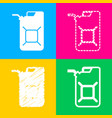 jerrycan oil sign jerry can oil sign four styles vector image