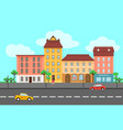 colorful spring city landscape template vector image