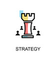 strategy chess graphic icon vector image vector image