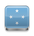 Metal icon of Micronesia vector image vector image