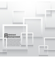 Square elements on white paper with shadow vector image vector image