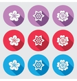 Flower icon set Petunia daisy orchid primula vector image
