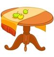 cartoon home furniture table vector image vector image