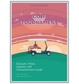 Golf Tournament Flat Poster vector image