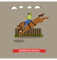 American Rodeo rider tries dressage horse vector image
