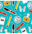 back to school seamless background vector image