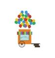 Balloons shop vector image