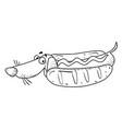 Cartoon image of sausage dog vector image